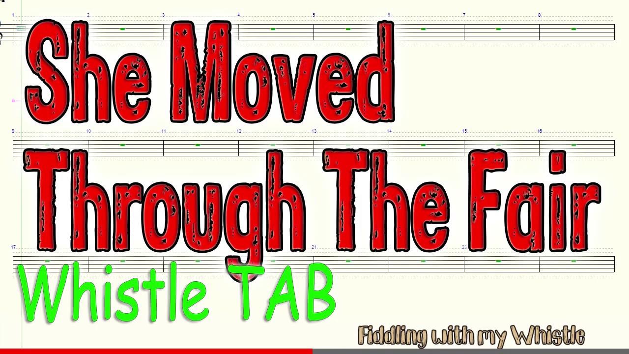 She Moved Through The Fair – Waltz – Folk Tune – Tin Whistle – Play Along Tab Tutorial