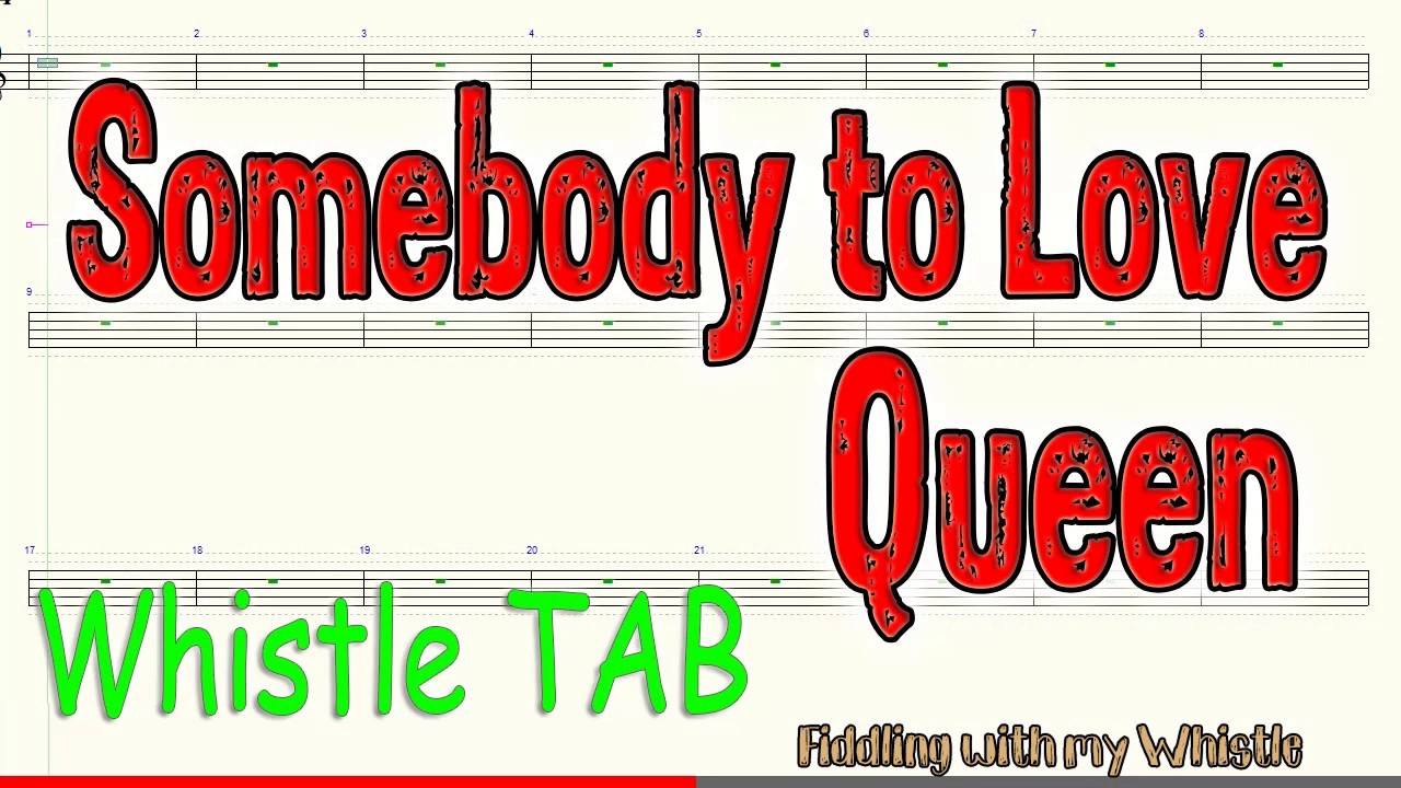 Somebody to Love – Queen – Tin Whistle – Play Along Tab Tutorial