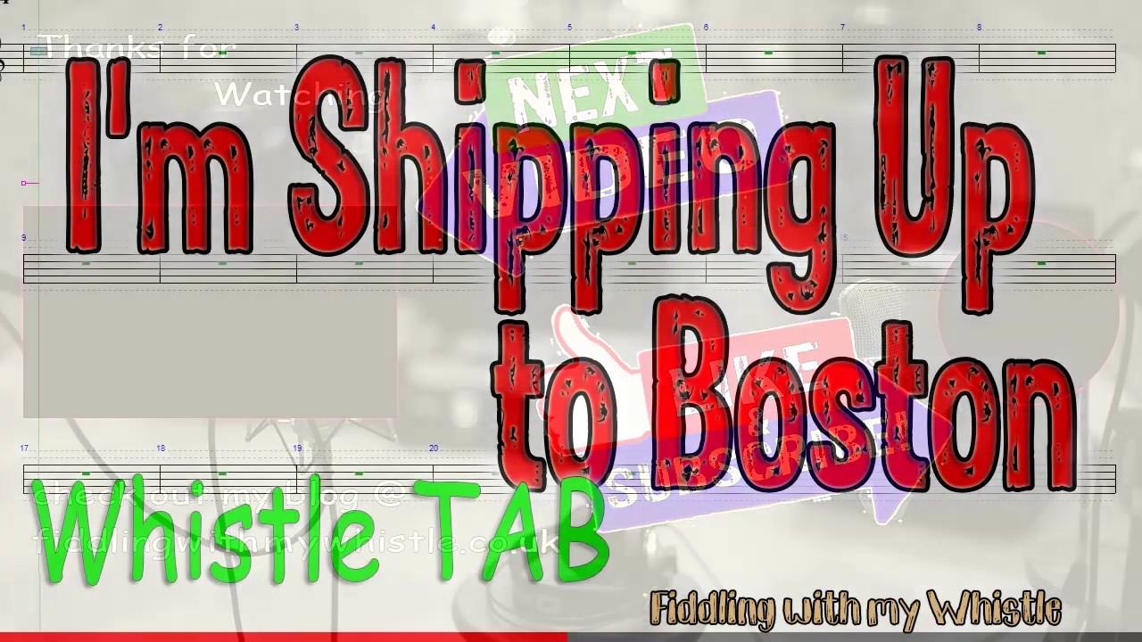 I'm Shipping Up to Boston – Dropkick Murphys – Tin Whistle – Play Along Tab Tutorial