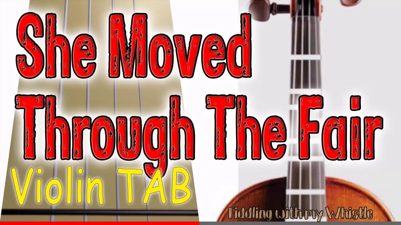 She Moved Through The Fair – Waltz – Folk Tune – Violin – Play Along Tab Tutorial