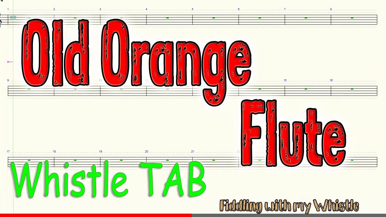Old Orange Flute – The Dubliners – Tin Whistle – Play Along Tab Tutorial