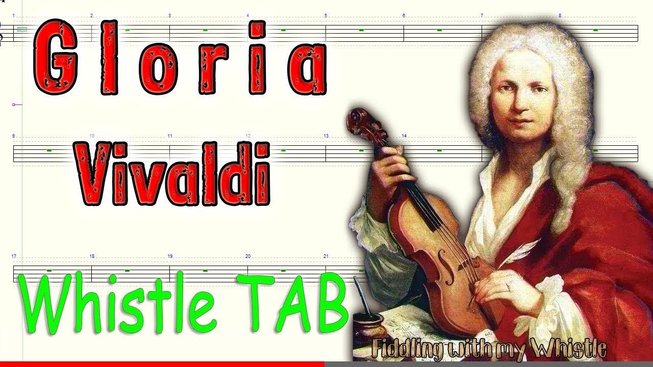 Gloria – Vivaldi – Tin Whistle – Play Along Tab Tutorial