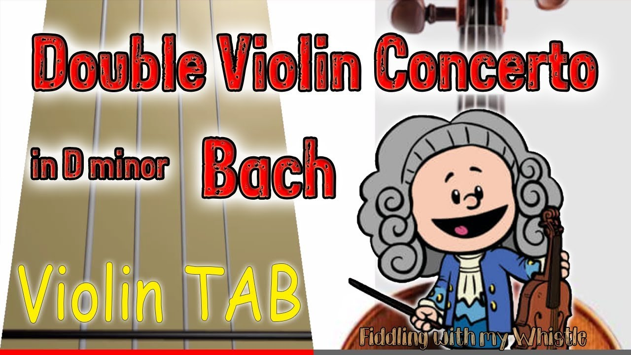 Double Violin Concerto in D minor – Bach – Play Along Tab Tutorial