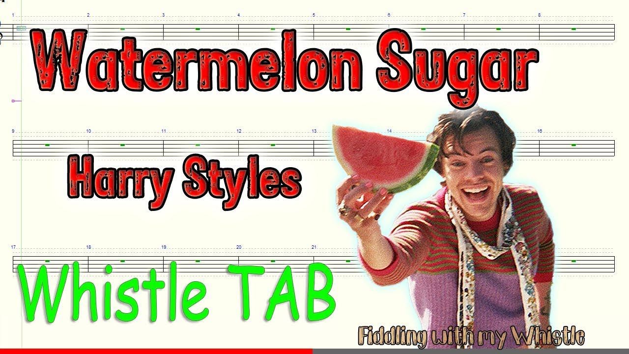 Watermelon Sugar – Harry Styles – Tin Whistle – Play Along Tab Tutorial