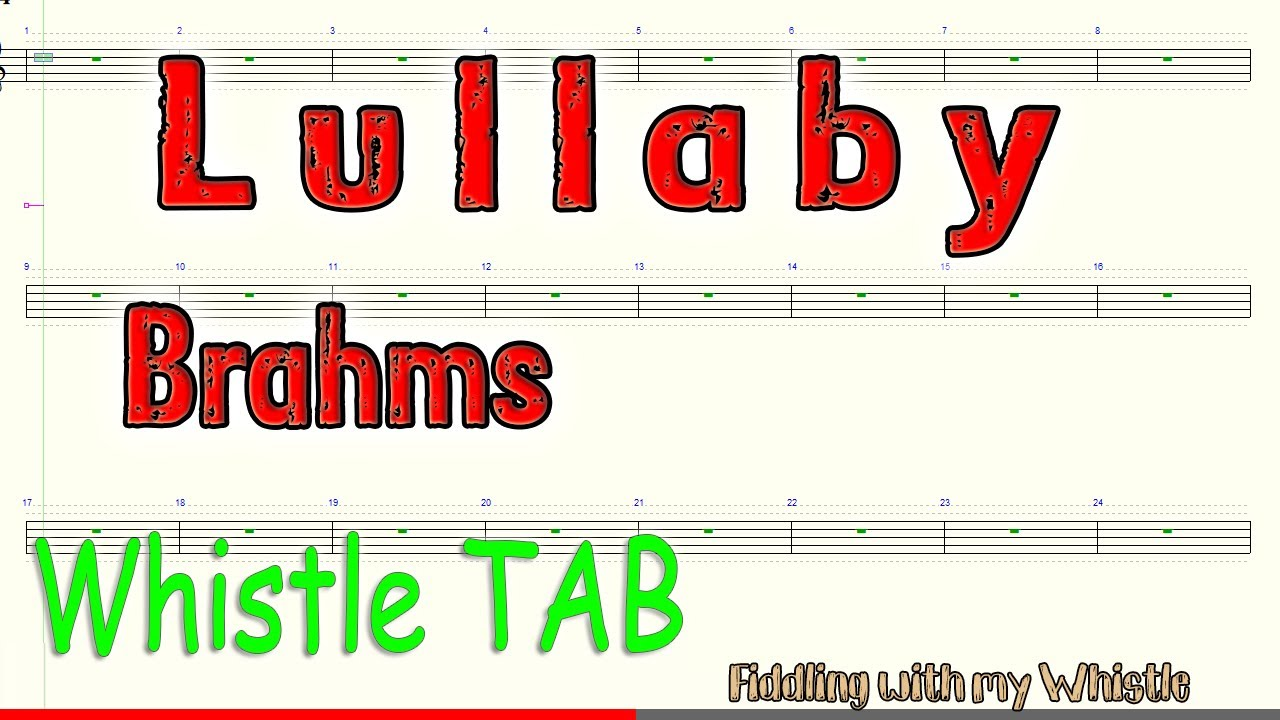 Lullaby – Brahms – Tin Whistle – Play Along Tab Tutorial