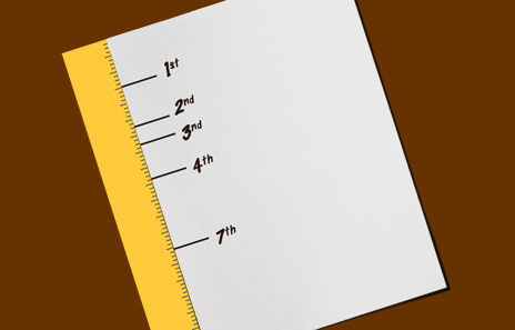Mark the 5 Finger Tape measurements  on a piece of paper