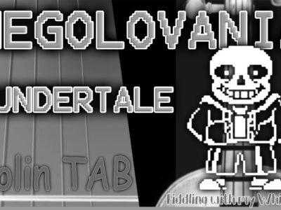 Megolovania – Undertale – Violin – Play Along Tab Tutorial