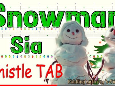 Snowman – Sia – Christmas – Tin Whistle – Play Along Tab Tutorial