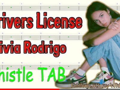 Driver's License – Olivia Rodrigo – Tin Whistle – Play Along Tab Tutorial