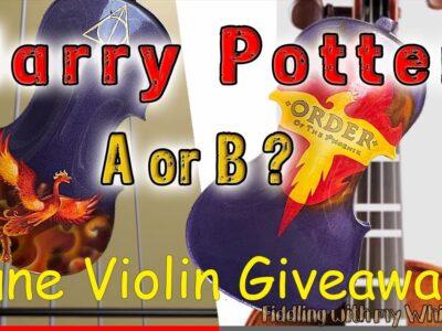 Harry Potter Custom Violin – June Giveaway – FiddlingWhistle